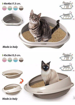PET cat TOILET INNOVATIVE LITTER TRAY SHUTTLE 45cm and 57cm  COLOURS