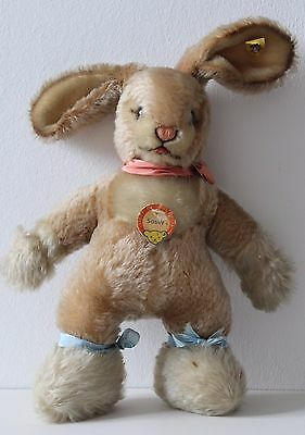 vintage Steiff SASSY BABY RABBIT EAN: 3120/30 Button Yellow Label 11 inches rare