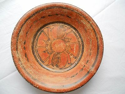 :Mayan pottery Bowl 26.5 X 6 cm Ex Towson university Art collection