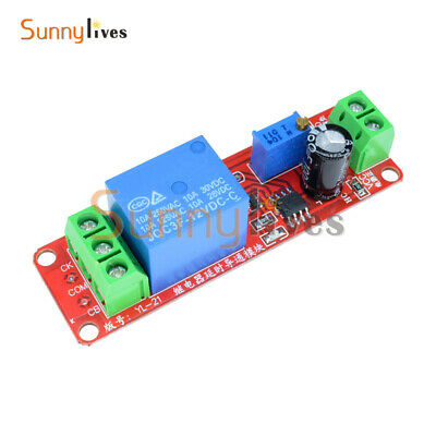 0-10 Second 12V Delay Adjustable Timer Relay Switch Módulo NE555 Oscillator