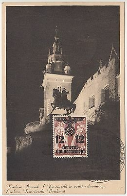 1940 Wwii Poland Germany General Government Gg Hitler Birthday Special Postmark