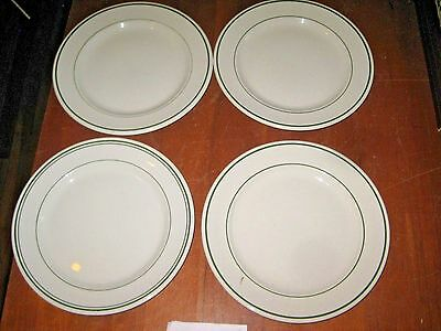 """BUFFALO CHINA & STERLING 9"""" PLATES  USED LOT OF 4  [RGS92s]"""