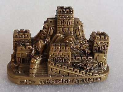 Older Great Wall Of China Replica Detailed Bronzed Resin Souvenir!