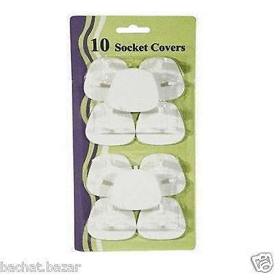 Pack Of 10 Mains Socket Safety Covers Child Baby Proof