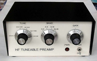 HF Tuneable Receive Preamp 2-32MHz.  Made in Dorset UK.
