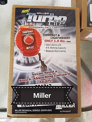 Two Brand New Miller Turbolite 6ft Personal Fall Limiter
