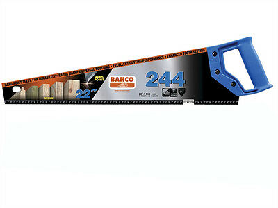"""BAHCO 22"""" 550mm 244 Hardpoint 7TPI Universal Wood Timber Cutting Hand Saw x 10"""