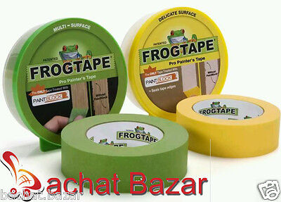 Green Painter's Masking Tape & Yellow Delicate Surface Tape 24mm x 41m Frog Tape