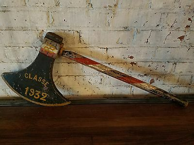 Antique French Trade Sign Axe St Georges France