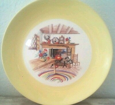 Vtg Homer Laughlin Eggshell Swing Colonial Kitchen Dinner Plate Yellow 9 1/8""