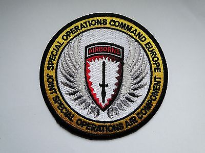Aufnäher/Patch   Special Operations Command Europe ca 10 cm