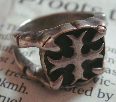 Antiques RING CROSS SOLID STERLING SILVER 925 MEN WOMAN SIZE 9