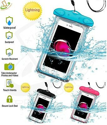 Universal Cell Phone Waterproof Bag Underwater Dry Pouch Glow Case Cover Lanyard