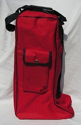 RHINEGOLD LONG BOOT BAG RIDING BOOT BAG SIDE POCKET (Red)