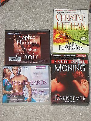 Lot Of 4 Top Audiobooks - Mystery, Drama, The Journey Book 2, & Women's Story!