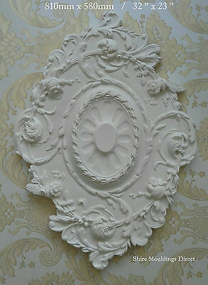 """Plaster Ceiling Rose Large 810 x 580mm / 32 x 23""""  CR41 Handcrafted"""