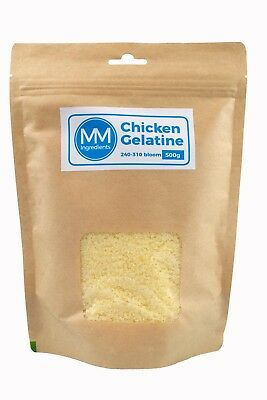 Chicken Gelatine/Gelatin Powder 500G (280-310 Bloom)
