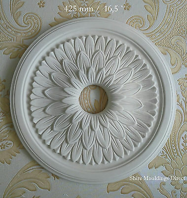 """Plaster ceiling rose 425 mm / 16 """" CR1 Handcrafted"""