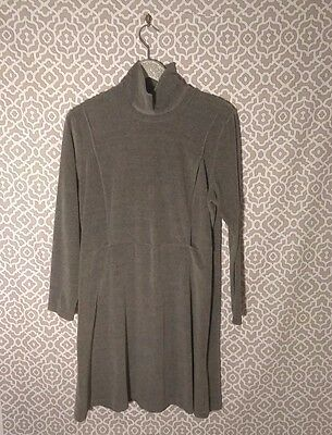 Motherwear Inc Long Sleeve Turtleneck Gray Maternity Nursing Dress Sz L