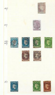 Ceylon stamps 1857 Collection of 11 CLASSIC stamps HIGH VALUE!