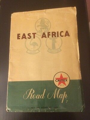 Caltex Road Map of East Africa 1950`s
