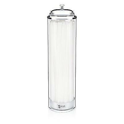 SimplyImagine Acrylic Straw Dispenser - 13 Inch Tall Drinking Straw Holder for