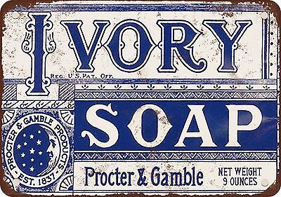 "9"" x 12"" Metal Sign - 1921 Ivory Soap - Vintage Look Reproduction"