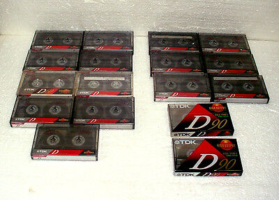 Lot Of 20 TDK D90 & D60 Cassette Tapes Used & New