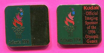 1996 Olympic 2  Kodak Pins Official Sponsor Pins 1 With Black & Red Pins