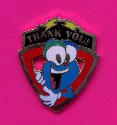 1996 Olympic Izzy Thank You Pin Die Cut Izzy Pin