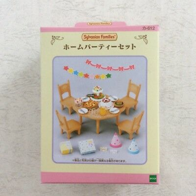 NEW Epoch Calico Critters Sylvanian Families furniture Home Party set From Japan