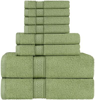"Olive Green /""Home Sweet Home/"" Hand Towels Set of Two"