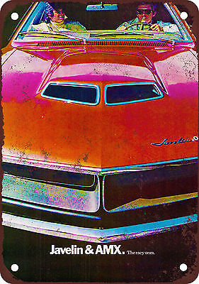 """9"""" x 12"""" Metal Sign - 1970 Javelin and AMX - Vintage Look Reproduction"""