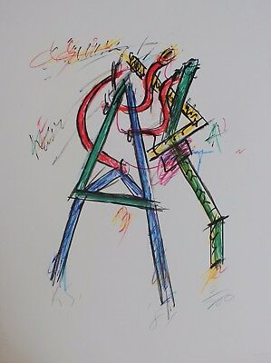 Keith Sonnier Lithograph Hand Signed Numbered Limited Edition Abstract 1981