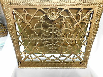 """Furnace Heat Grate Vintage   From Mansion 11"""" X 14"""" Stowell Mfg  Wall Mount"""