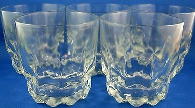 Unusual ICE BLOCK Scandinavian Styled (5 Pc) Scotch Whisky Glasses Man Cave Bar