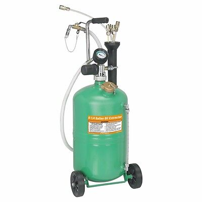 6.25 Gallon Pneumatic Oil Extractor with 5 Probes and Vacuum Gauge
