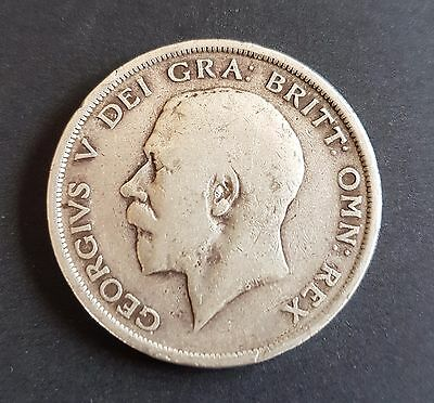 Old UK Half Crown Coin George V  925 Fine Silver Available Dates 1915 - 1818