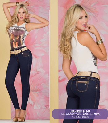 JEANS COLOMBIANOS, M147, Authentic Colombian, Push Up Jeans, Jean Levanta Cola