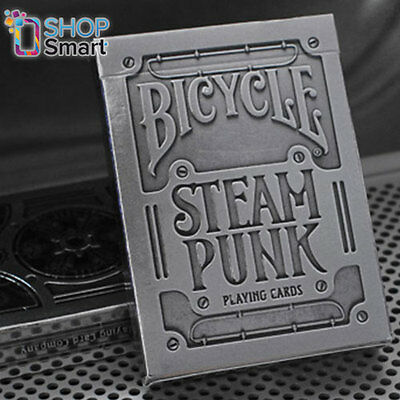 Bicycle Silver Steampunk Playing Cards Deck By Theory 11 Magic Tricks New