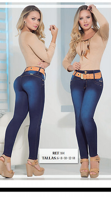 JEANS COLOMBIANOS, SF104 Authentic Colombian, Push Up Jeans, Jean Levanta Cola
