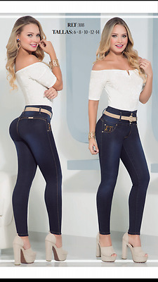 JEANS COLOMBIANOS, SF108 Authentic Colombian, Push Up Jeans, Jean Levanta Cola