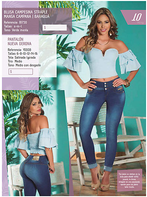 JEANS COLOMBIANOS, Y0008  Authentic Colombian, Push Up Jeans, Jean Levanta Cola