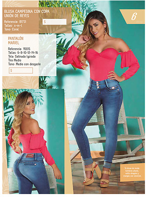 JEANS COLOMBIANOS, Y0015 Authentic Colombian, Push Up Jeans, Jean Levanta Cola