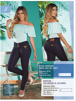 JEANS COLOMBIANOS, Y0002 Authentic Colombian, Push Up Jeans, Jean Levanta Cola