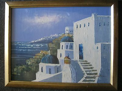 Vintage European Style Framed Oil Signed By The Artist 470 X 366Mm.