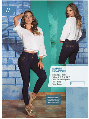 JEANS COLOMBIANOS, Y0001 Authentic Colombian, Push Up Jeans, Jean Levanta Cola