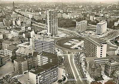 Ernst Rueter Square Berlin Germany aerial view RPPC Postcard
