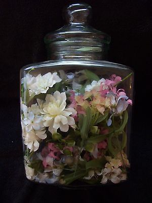 TRIANGLE Shaped Clear Glass Apothecary Jar Canister with Lid