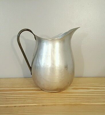 Vintage PARAMOUNT Large PURE Aluminum Pitcher Rustic MADE IN USA~The E.A. Co